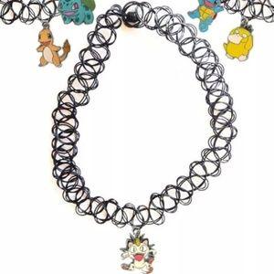 Shop Jeen Jewelry - Meowth 90s tattoo choker
